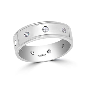 1CT Natural Conflict Free Mens Diamond ring in 18kt white gold size 10/ Genuine classy mens diamond band ring white gold 18kt