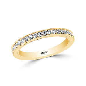 1CT Eternity Diamond Band Wedding Band Stackable Band Bead Settting Style Diamonds Band 18k Yellow Gold