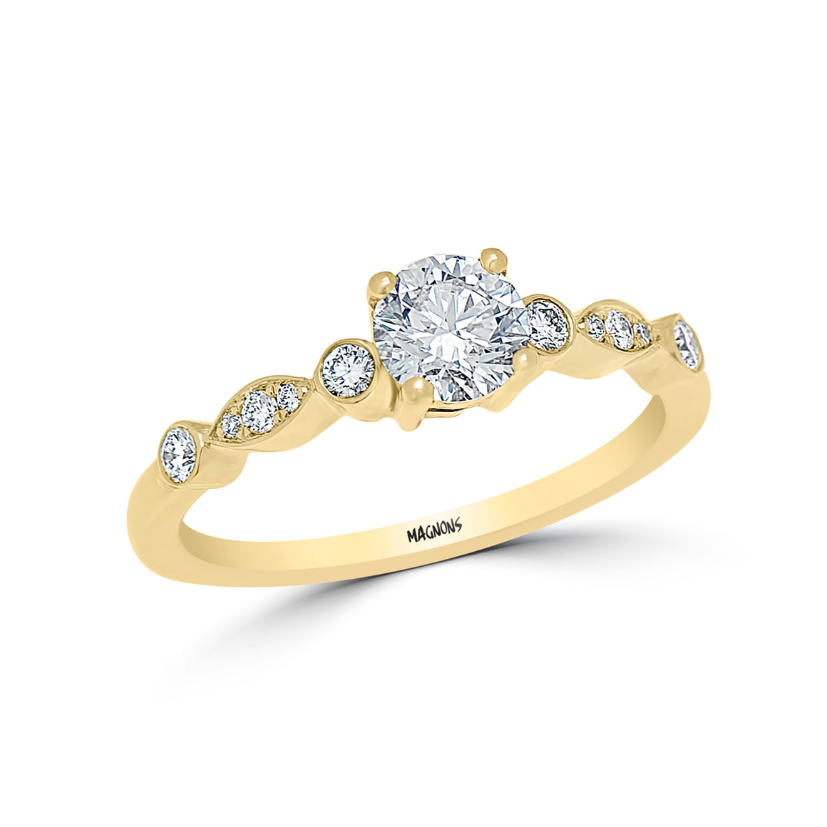 0.50CT Canadian Diamond Engagement Ring Yellow gold 18K Diamond Engagement Bridal Ring