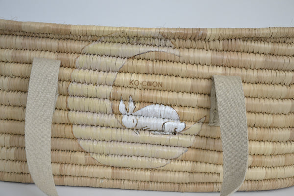 KO-COON Bunny Tail Moses basket/Bassinet - Bunny and the Moon (Made To Order)