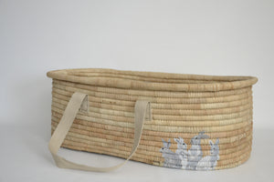 KO-COON Bunny Tail Moses basket/Bassinet - Bunny family (Made To Order)