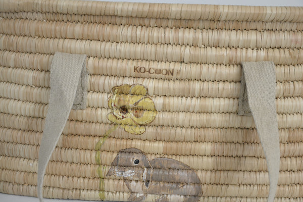 KO-COON Bunny Tail Moses basket - bunny with flower