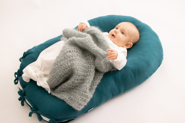 Merino Wool Nesting Pod 3-in-1 with Deep Teal cotton covers (lead time 2-3 weeks)