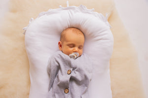 Cocoon Swaddle - Cotton (with buttons) GREY
