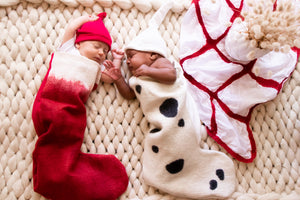 Christmas Stocking Swaddle and beanie