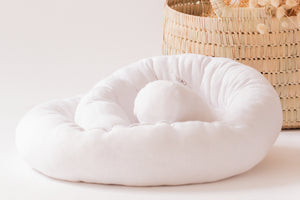 Wool Noodle pillow (Nesting pod border / Bed bumper / Developmental toy) - up to 2 weeks lead time