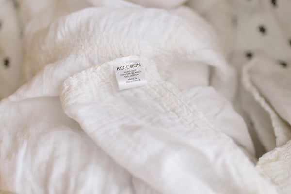 Dreamy blanket - merino wool & muslin - naturally weighted blanket / security blanket