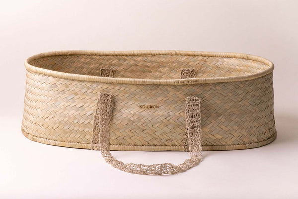 KO-COON Boho Collection - Moses basket with macrame handles