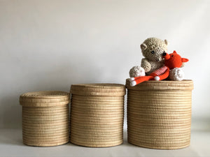 Toys basket with lid / Kids stool / Plant basket & tray