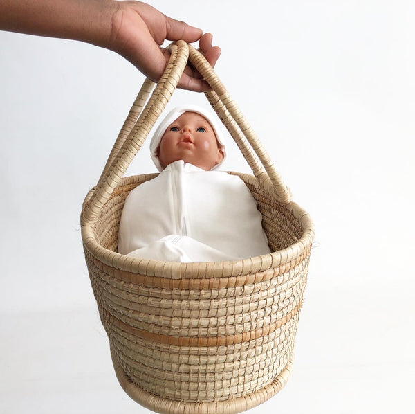 Nappy Organizer / Caddy  Basket / Doll & Teddy Moses basket - Natural collection