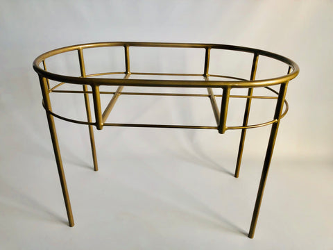 GOLD Steel frame Moses basket stand / Changing station / Serving table (w/o woven base)