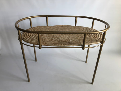 GOLD Steel frame Moses basket stand / Changing station / Serving table