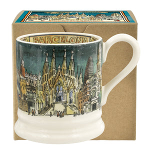 Emma Bridgewater 'Cities of Dreams' Barcelona Earthenware Half Pint Mug, Boxed