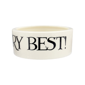 Emma Bridgewater Black Toast Small Pet Bowl for Cats and Dogs, Earthenware