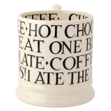 Emma Bridgewater Black Toast All Over Writing Half Pint Mug