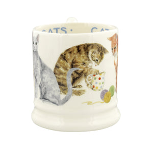 Emma Bridgewater Cats All Over Earthenware 1/2 Pint Mug
