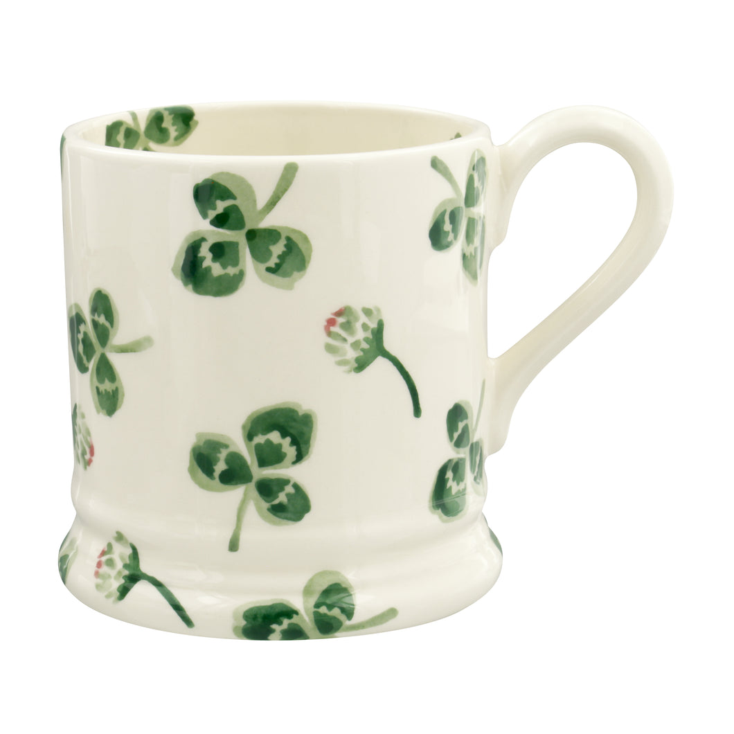 Emma Bridgewater Clover Flower Half Pint Mug, Earthenware