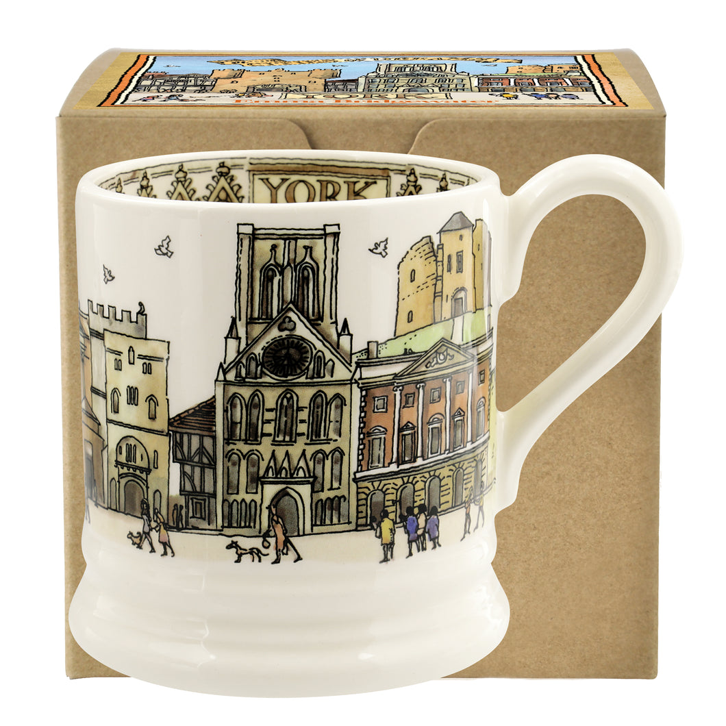 Emma Bridgewater Cities of Dreams York Earthenware Half Pint Mug, Boxed