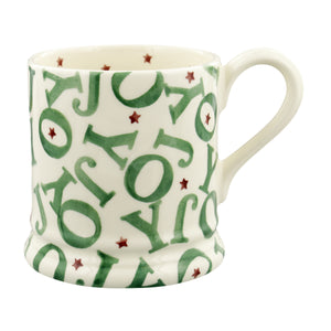 Emma Bridgewater Christmas Joy Half Pint Mug, Earthenware
