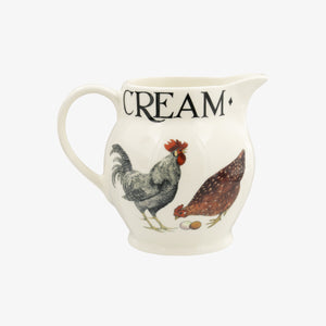 Emma Bridgewater Rise & Shine Hen and Toast 0.5pt Jug, Earthenware