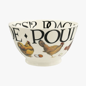 Emma Bridgewater Rise and Shine Poulty on Parade Medium Old Bowl, Earthenware