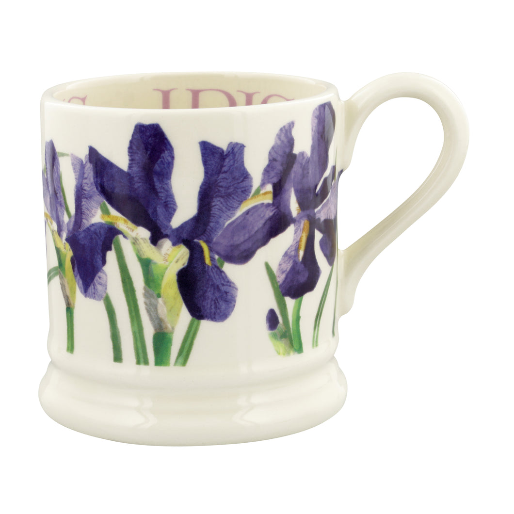 Emma Bridgewater Flowers Blue Iris Half Pint Mug, Earthenware