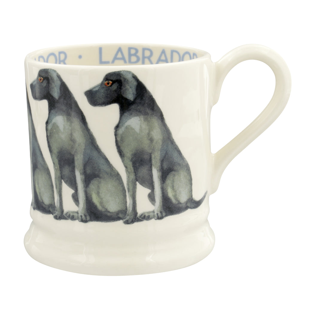 Emma Bridgewater Black Labrador Earthenware 1/2 Pint  Mug, 2019
