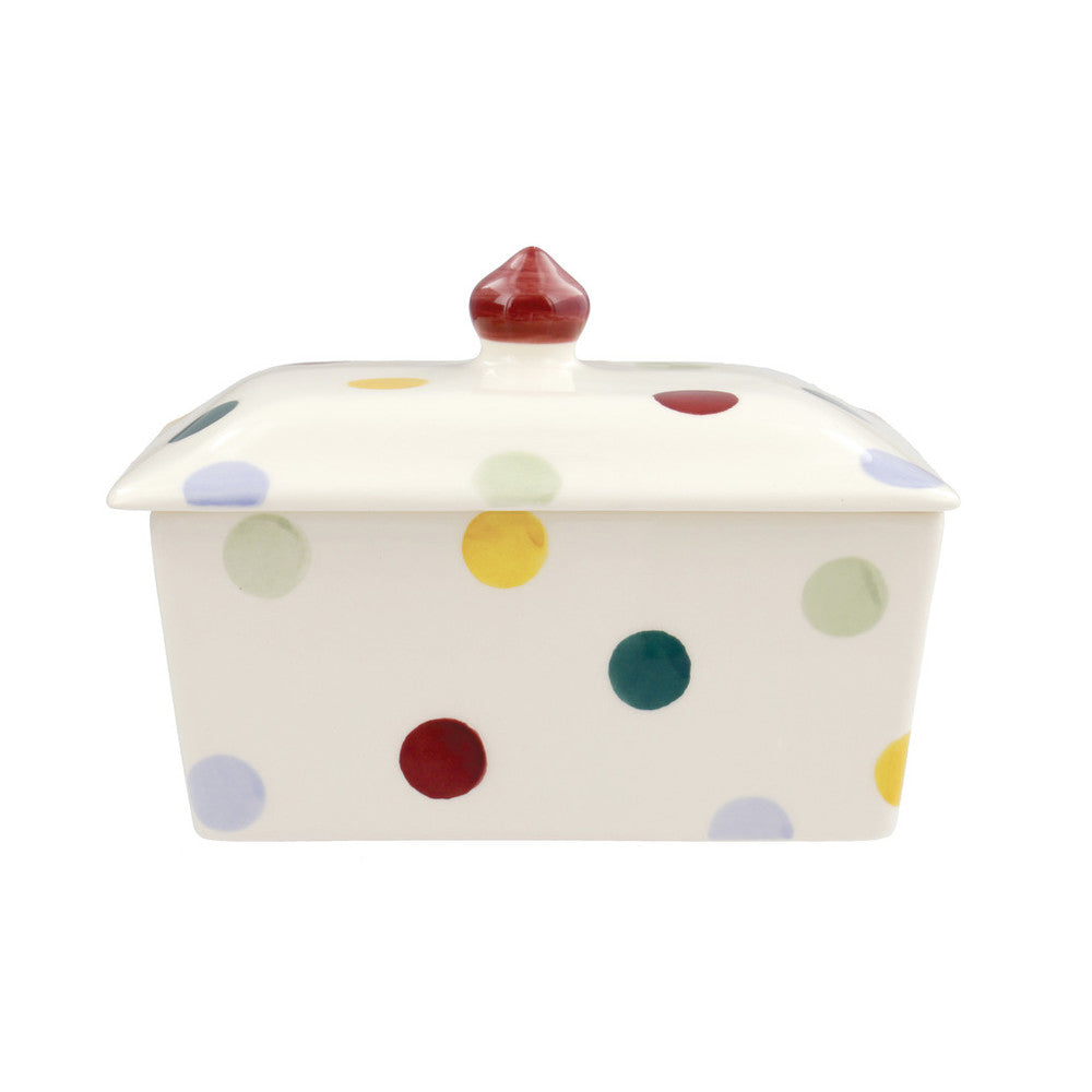 Emma Bridgewater Polka Dot Small Butter Dish, Earthenware