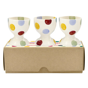 Emma Bridgewater Polka Dot Egg Cups, Set of 3, Gift Boxed