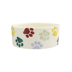 Emma Bridgewater Polka Paws Small Pet Bowl for Cats and Dogs, Earthenware
