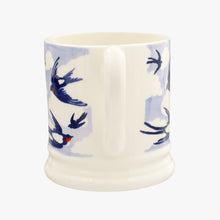 Emma Bridgewater Blue Swallows In The Cloud Half Pint Mug, Earthenware