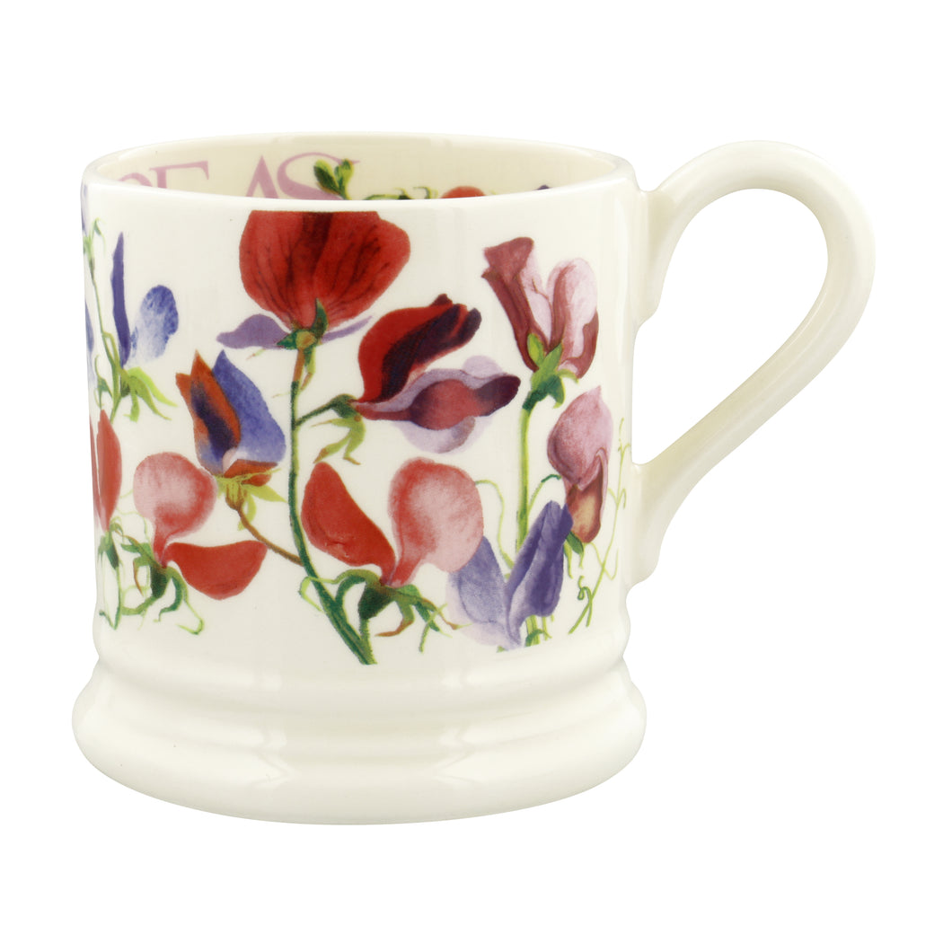 Emma Bridgewater Flowers Sweet Peas Half Pint Mug, Earthenware