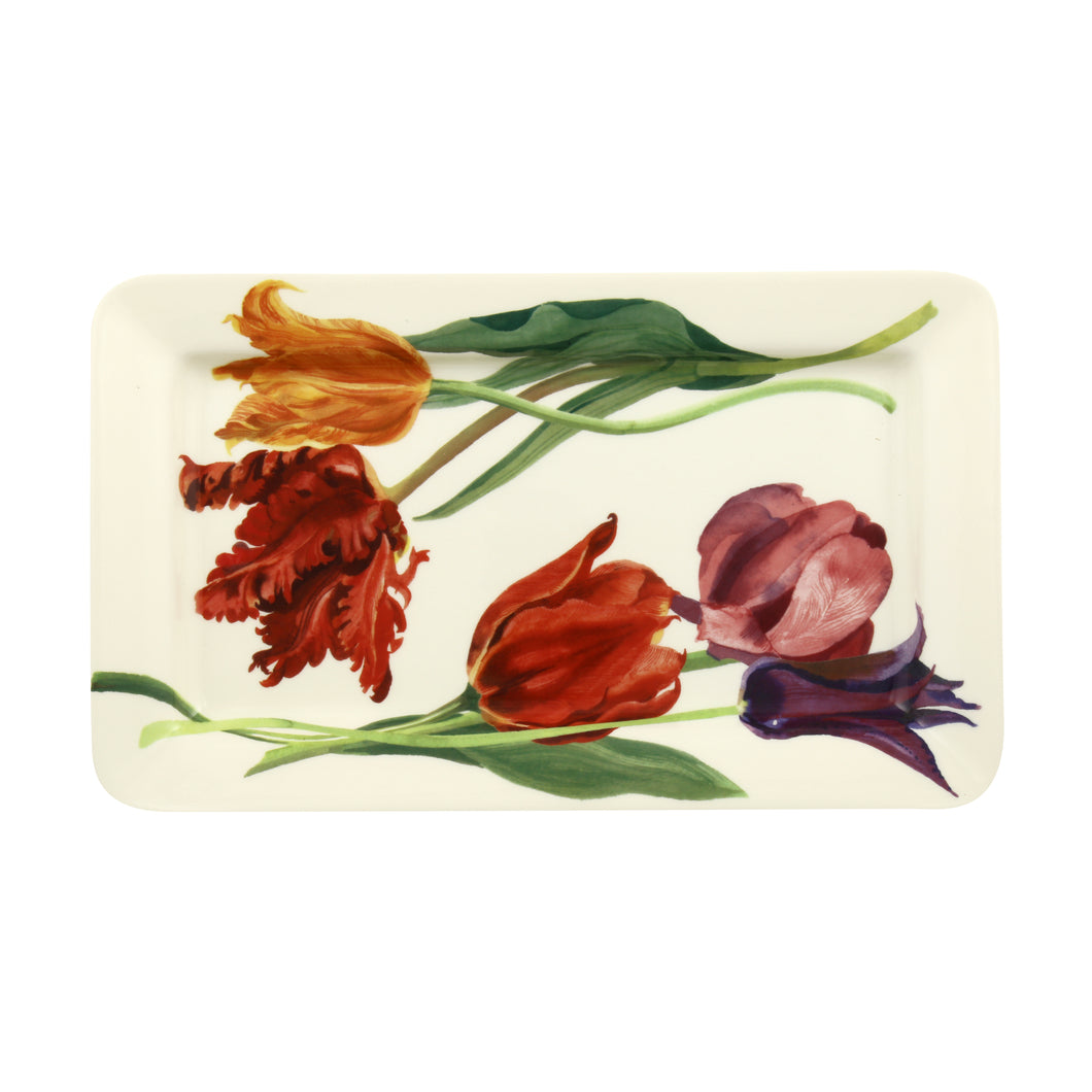 Emma Bridgewater Flowers Tulips Medium Oblong Plate, Earthenware