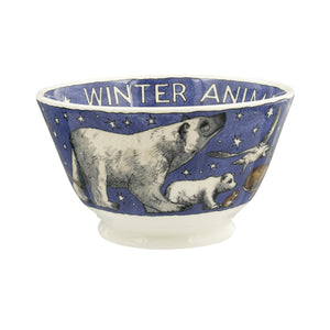 Emma Bridgewater Winter Animals Small Old Bowl, Earthenware