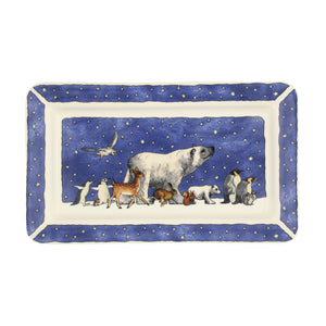 Emma Bridgewater Winter Animals Medium Oblong Plate, Earthenware