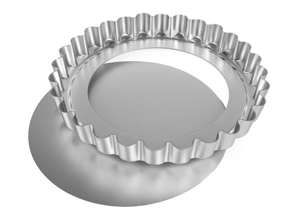 Silverwood Bakeware Fluted Flan Tin Loose Base, 11 inch