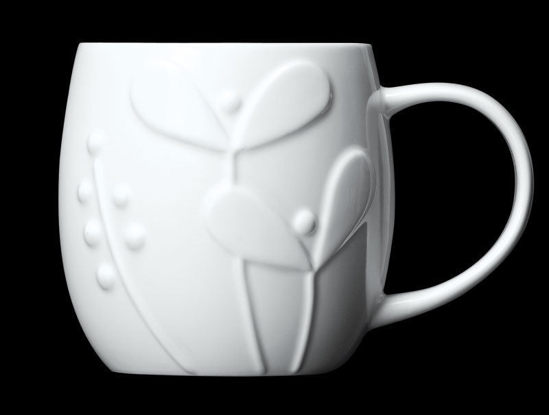 Repeat Repeat Plum White Bone China Mug - Seedling