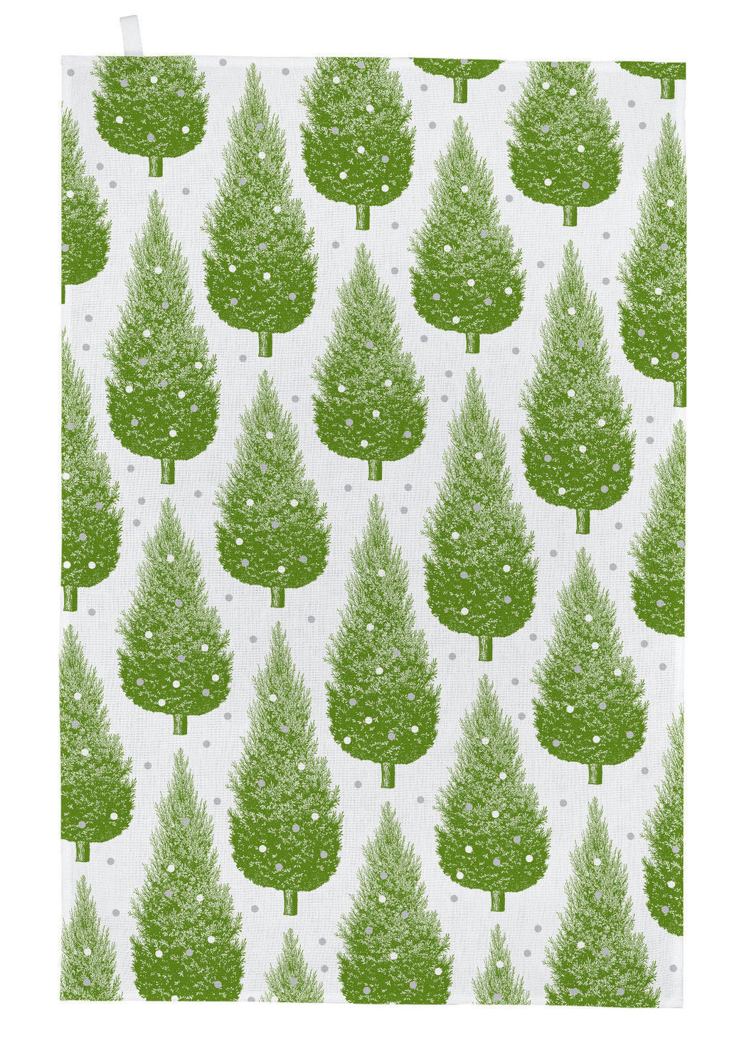 Thornback & Peel Tea Towel, Christmas Trees Design, 100% Cotton