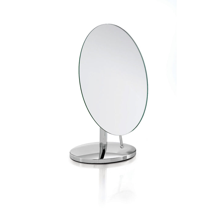 Robert Welch Oblique Bathroom Oval Pedestal Mirror Polished Stainless Steel