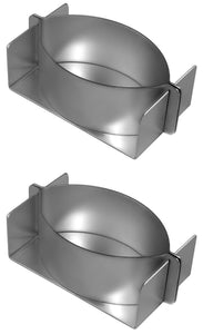 Silverwood Bakeware Little John Individual Pie Mould Tin, Set of 2