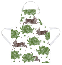 Thornback & Peel Apron, Rabbit and Cabbage Design, 100% Cotton