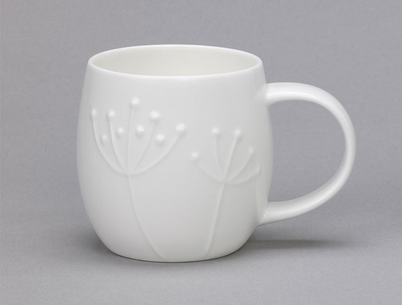 Repeat Repeat Plum White Bone China Mug - Sprig