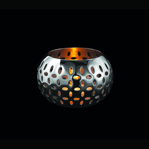 Robert Welch Sesame Tealight Holder, Small, Stainless Steel, Gift-Boxed