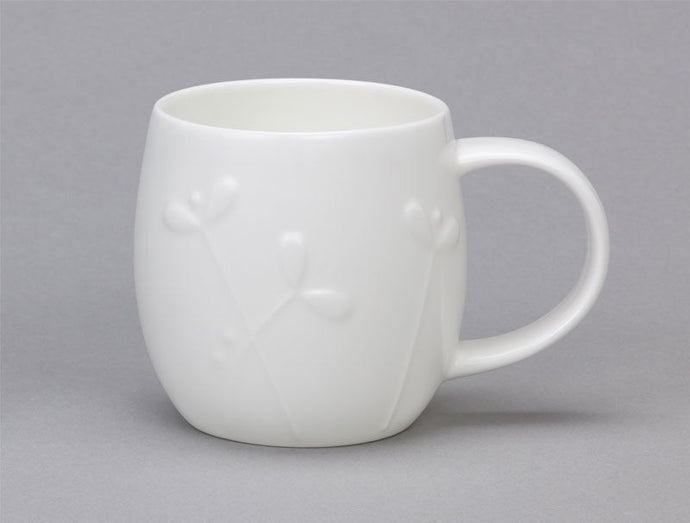 Repeat Repeat Plum White Bone China Mug - Cress