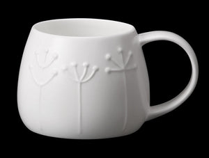 Repeat Repeat Tulip White Bone China Mug - Sprig