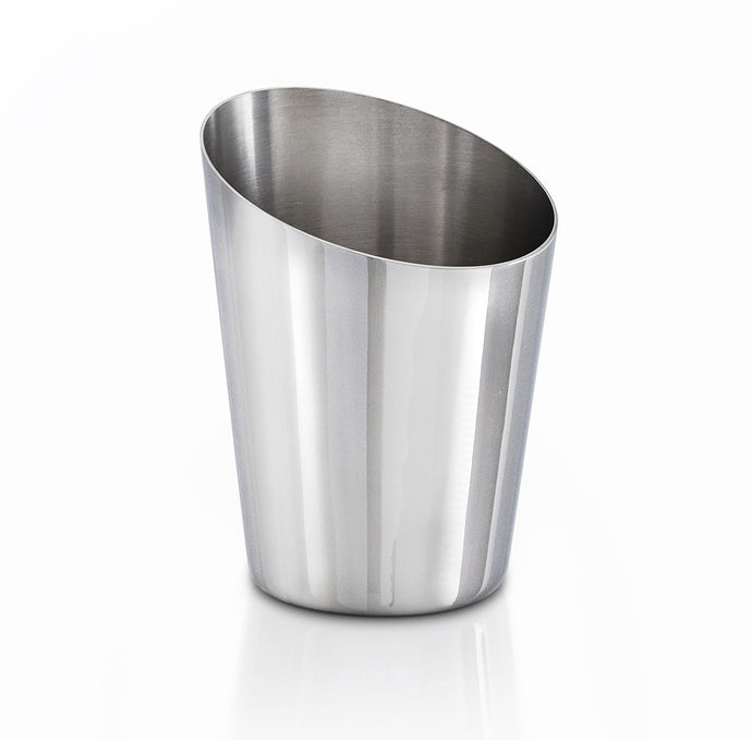 Robert Welch Oblique Bathroom Tumbler Polished 18/10 Stainless Steel