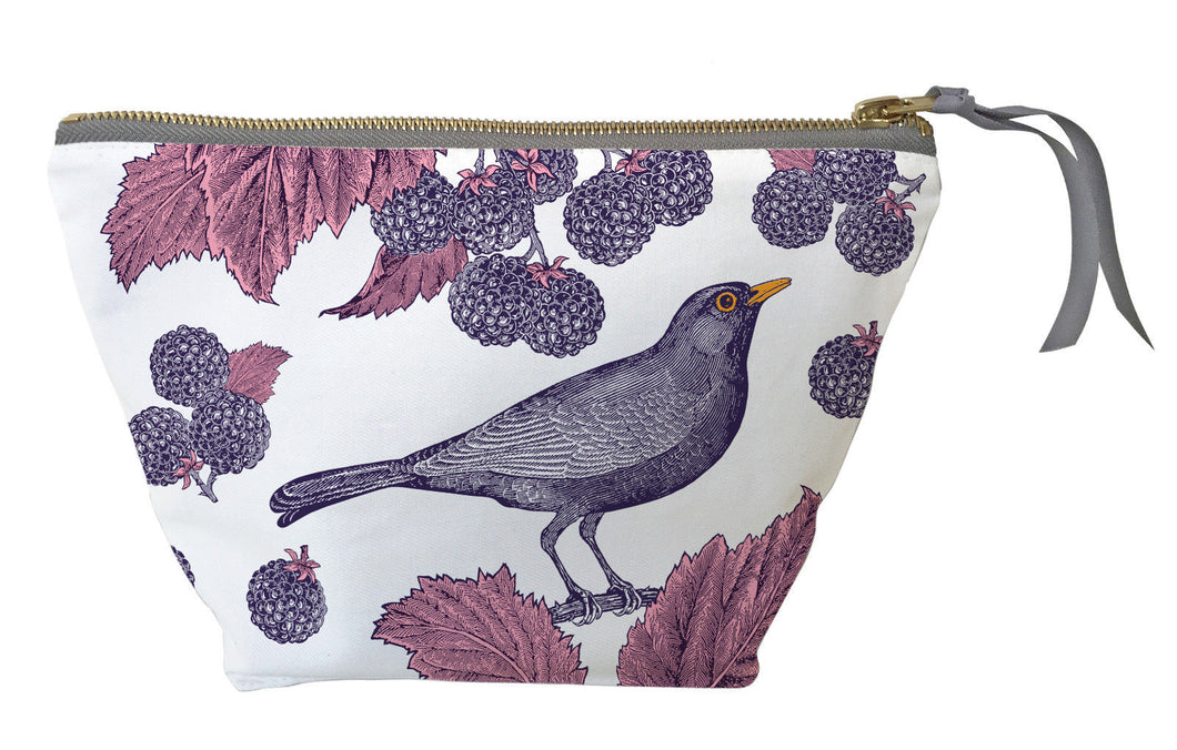 Thornback & Peel Cosmetic Bag, Blackbird and Bramble Design, Cotton