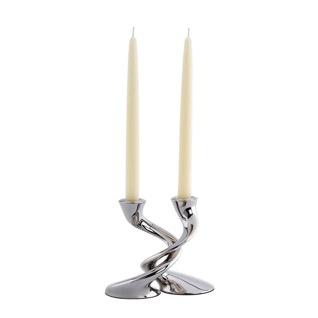Robert Welch Windrush Candlestick, Stainless Steel, Set of 2, Gift-Boxed