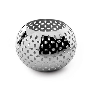 Robert Welch Sesame Tealight Holder, Large, Stainless Steel, Gift-Boxed