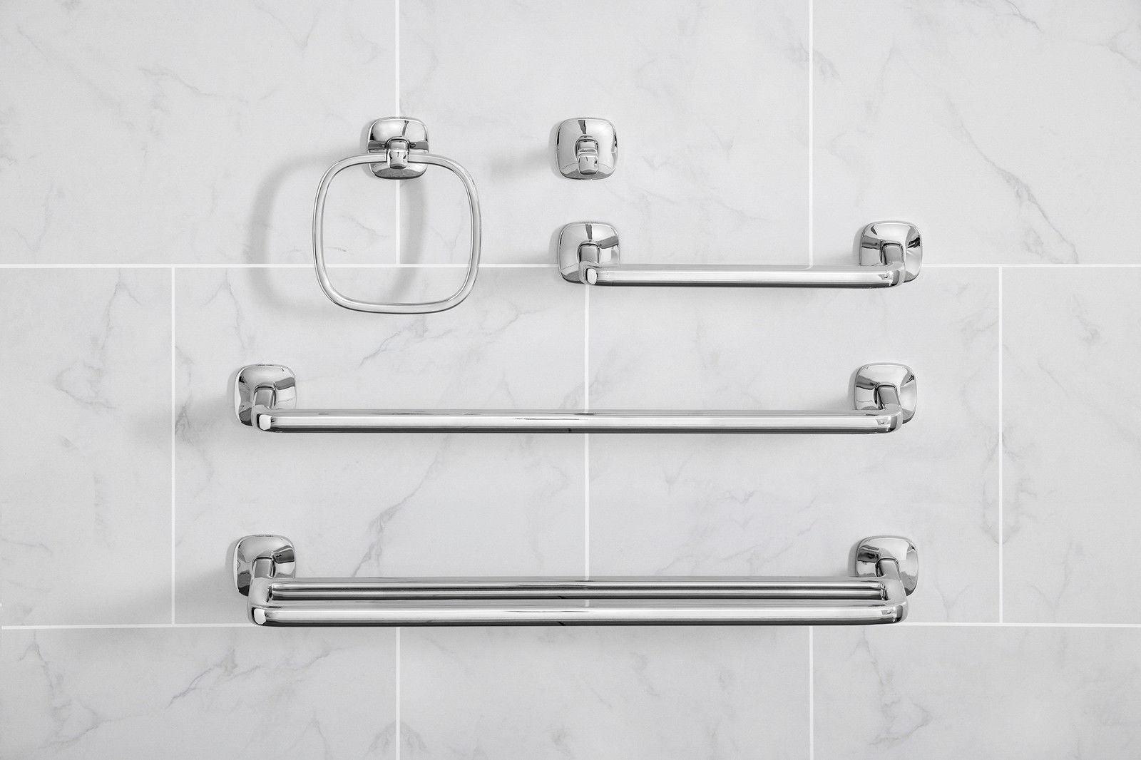 Robert Welch Burford Bathroom Short Towel Rail In Polished 18/10 ...